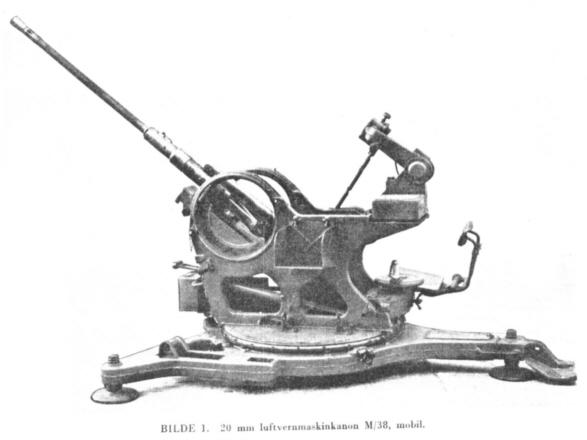 20 mm Flak M/38 Mobil, Kilde: Brev fra Forsvarsmuseet, vedlegg 9