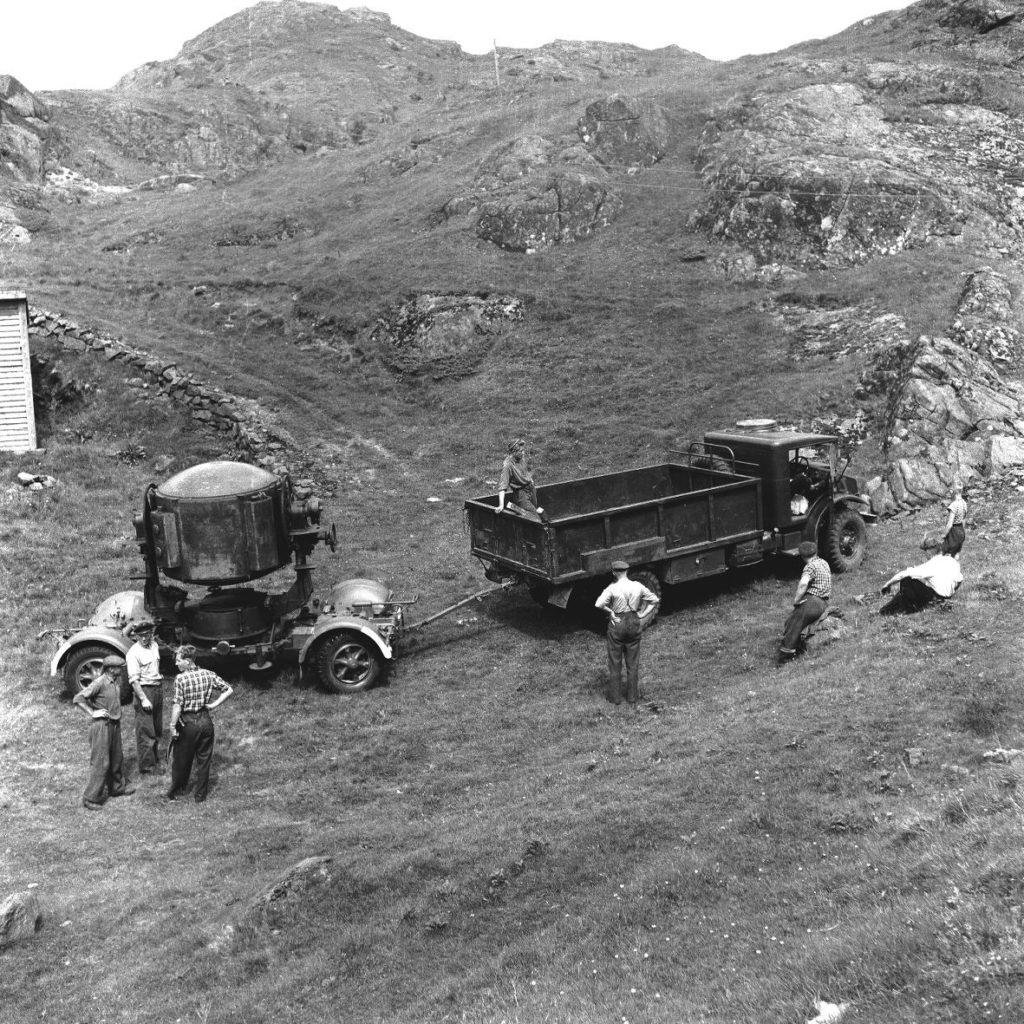 Lyskaster Hågåsen, Bildedato: 1955.  Foto: Kåre Tønnessen.