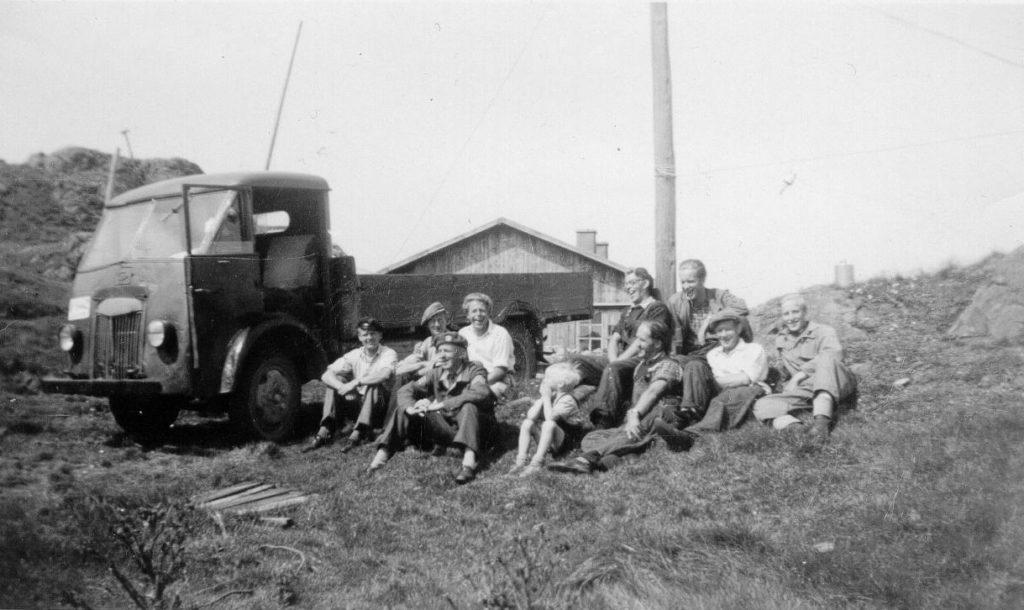 Telegrafistbrakka, Bildedato: 1950.  Copyright: Finn Mamre